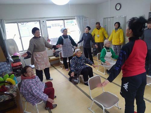 健康づくり教室 in 甲子第6仮設団地(釜石・大槌大学)