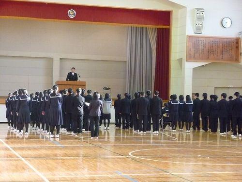 唐丹中学校仮設校舎で3学期スタート