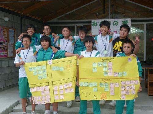 子ども街づくり倶楽部「釜石の未来に対する思いを語り合う」ワークショップ