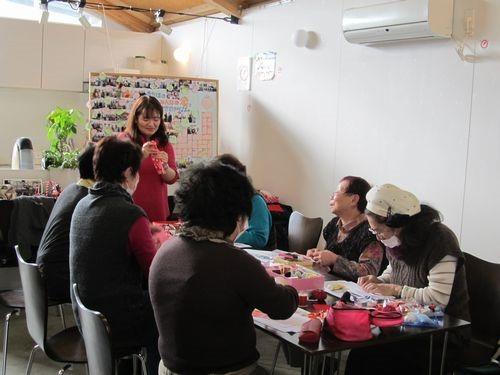 2月の【ちりめん細工教室】開催