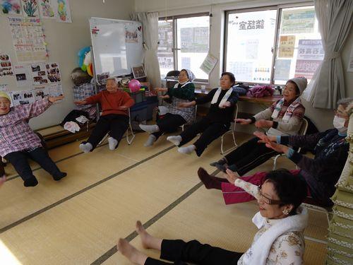 みんなで楽しく健康体操と料理教室 in 甲子第6仮設団地