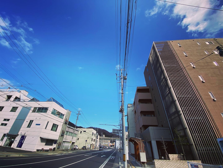 みんなの家から右向くとこんな景色。今日も青空。
