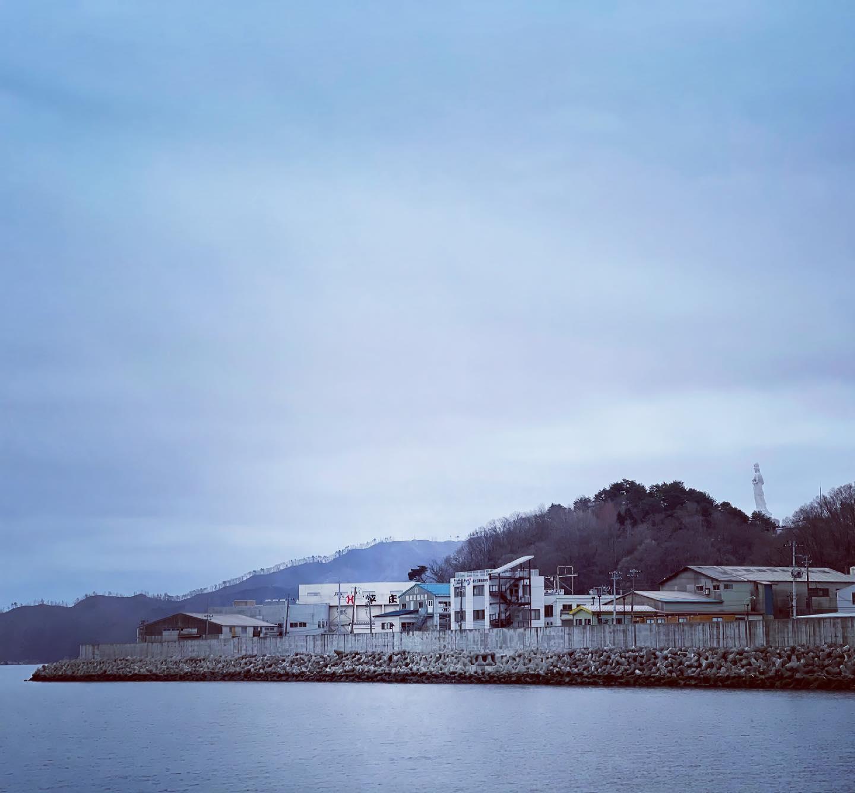 釜石大観音 今日も釜石の海を見守っています。